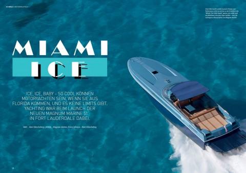 MIAMI ICE — Magnum Marine Graces Cover of Yachting Swissboat Magazine