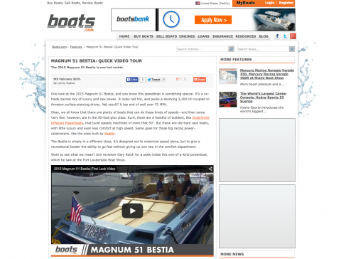 Boats.com Features Magnum 51' BESTIA Video Tour