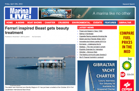Marina Live! Features Article On Environmentally Friendly Magnum 51 Makeover