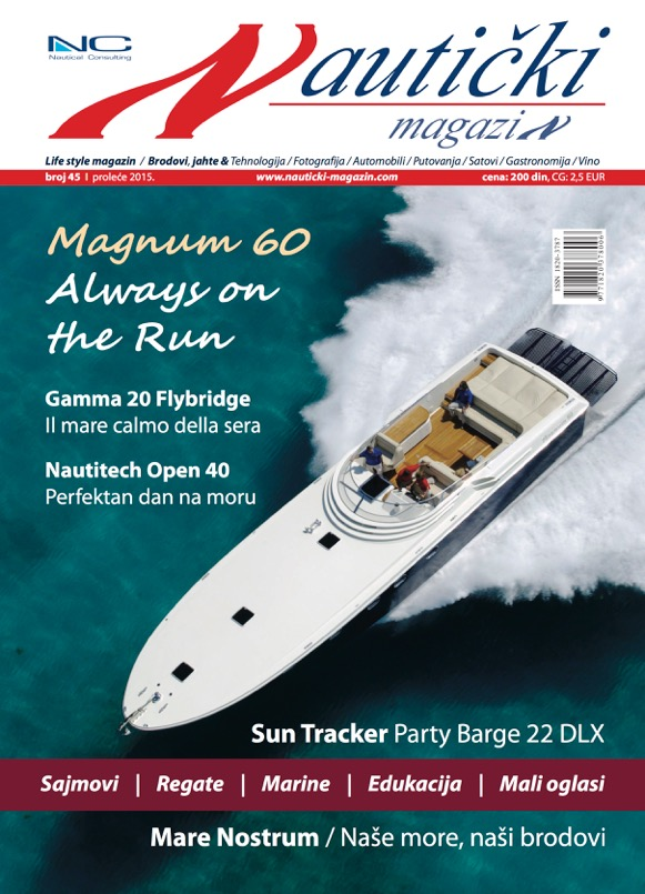Magnum 60 Featured On Cover Of Serbian Nautički Magazin