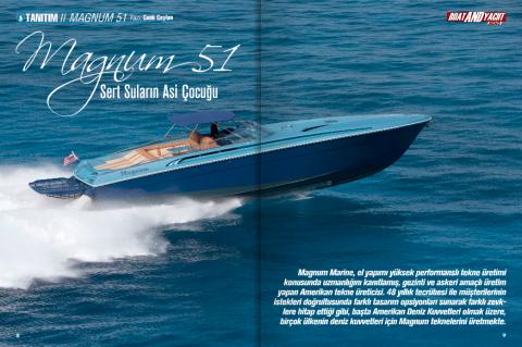 Magnum Marine 51 Featured In Boat & Yacht News - Turkey