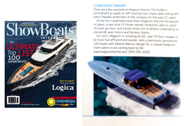Magnum 51 Featured In ShowBoats International Magazine