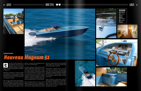 Magnum Marine Featured in La Revue Automobile