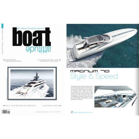 Magnum 70 Featured in Boat Attitude Book