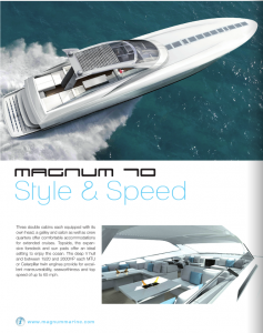 Magnum 70 Featured in Boat Attitude Book
