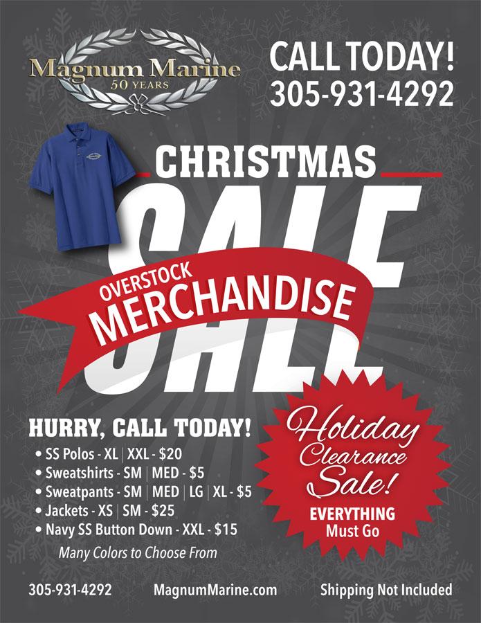 Magnum Marine Overstock Merchandise Sale Flyer