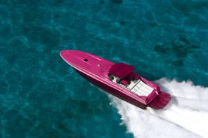 While this is a rendering of a PINK Magnum 51, we will have a BLUE version on display for the Ft. Lauderdale International Boat Show
