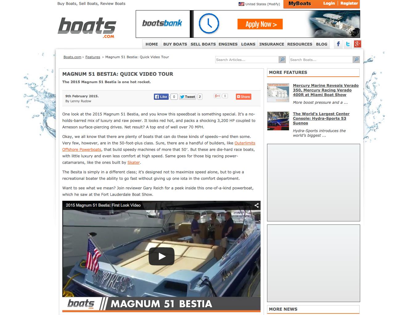 Boats.com Features Magnum 51' BESTIA Video Tour