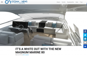 Ocean Of News Features White Magnum Marine 80