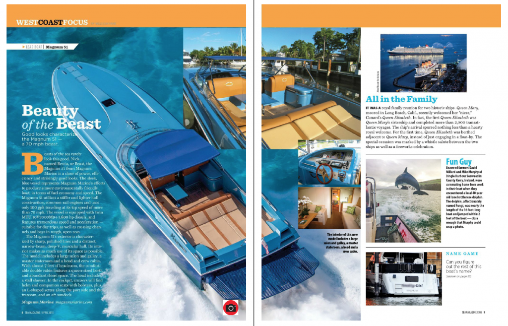 Beauty of the Beast — Magnum 51 Featured In Sea Magazine