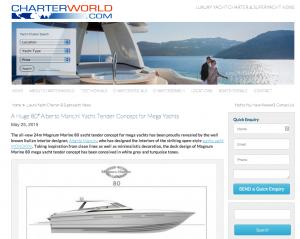 A Huge 80′ Alberto Mancini Yacht Tender Concept for Mega Yachts