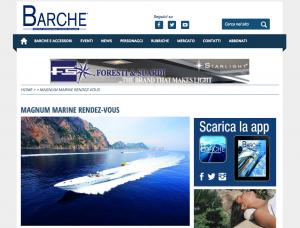 Magnum Marine Featured on Barche Magazine