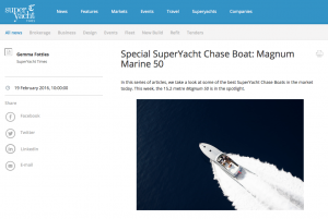 Super Yacht Times features Magnum Marine